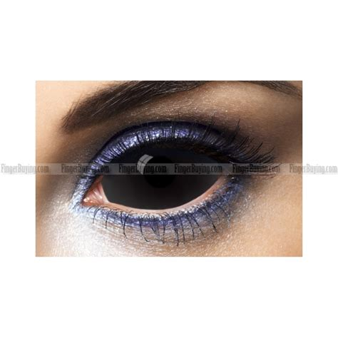 all black sclera contact lens pair all black out
