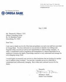 Bank Letter To Client Gibson Consulting