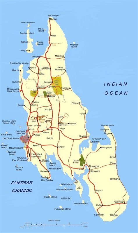 zanzibar map map of zanzibar zanzibar island map