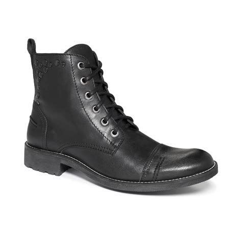 black boots for guess channing boots in black for lyst