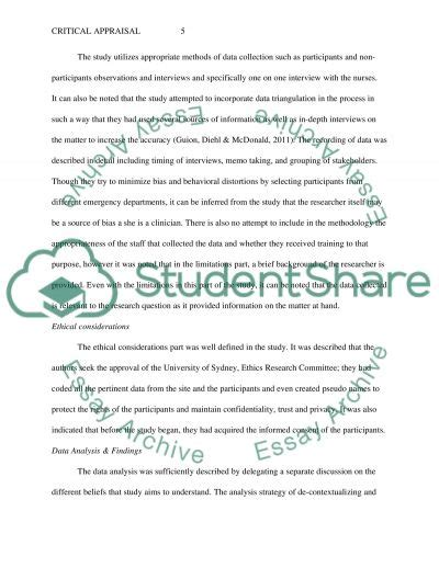 Critical Appraisal Exle Essay by Exle Of Critical Appraisal Essay Introduction To Critical Appraisal Watsonglaser Critical
