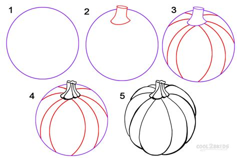 draw a pumpkin for how to draw a pumpkin step by step pictures cool2bkids