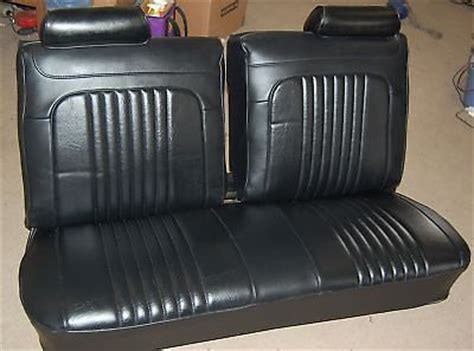 el camino bench seat for sale 1971 1972 chevelle black bench seat covers pui quality ebay