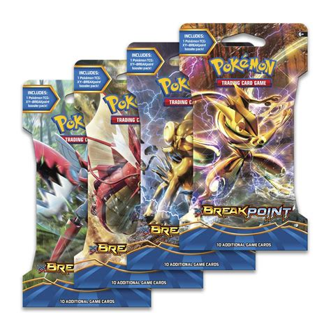 card packs pok 233 mon tcg xy breakpoint expansion sleeved booster