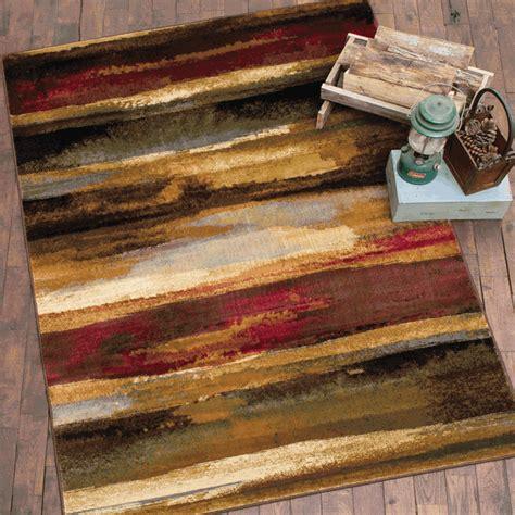 rustic landscape rug