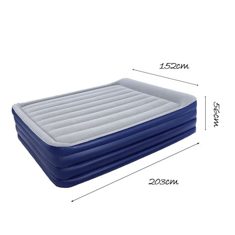 queen air bed bestway 2 03m inflatable nightright raised queen air bed