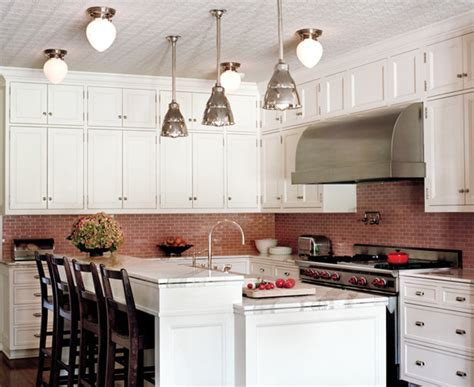 Pink Subway Tile   Contemporary   kitchen   Ferguson and