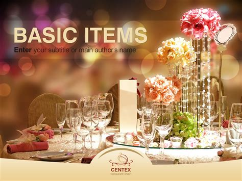 powerpoint themes restaurant cafe and restaurant powerpoint template 32497