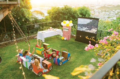black car party in the backyard diy outdoor movie theatre in 4 easy steps real estate