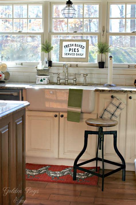 kitchen sinks farmhouse style golden boys and me cozy farmhouse style in our kitchen