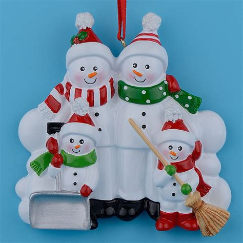 aliexpress com buy snowman family shovel of 4 polyresin