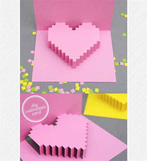 diy minecraft valentines diy pixelated minecraft pop up card for