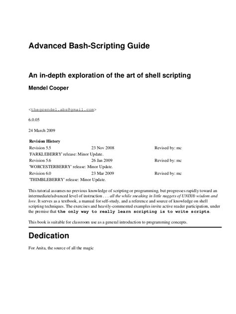 Append 00 advanced bash scripting gnu guide