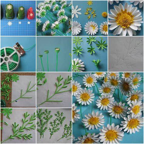 How To Make Paper Daisies - how to make paper daisies step by step diy tutorial