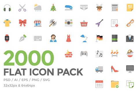 design icon pack freebie flat icon pack ai svg eps psd png codrops
