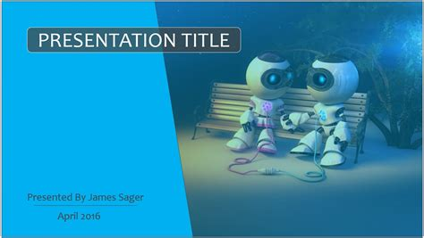 robotics themes for powerpoint free cartoon robots powerpoint template 8064 sagefox