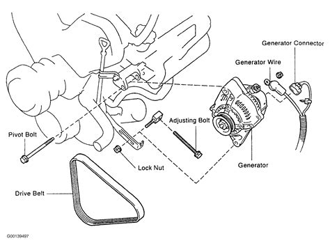 1996 toyota tacoma parts diagram 1996 toyota tacoma serpentine belt routing and timing belt