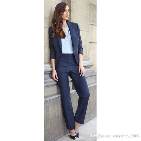 light blue suit jacket womens 2018 navy blue blazer business suits trouser