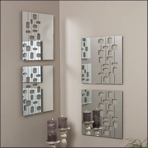 Decorative Mirrors Bedroom Wall by Decorative Large Wall Mirrors And Bedroom Interior Square Mirror With Silver Frame Placed On