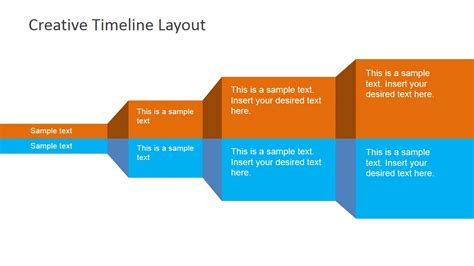 layout for timeline creative timeline layout for powerpoint slidemodel