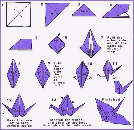 Origami Swan How To - origami peace crane directions world peace