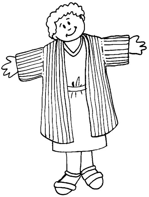 printable coloring pages joseph coat joseph and his coat of many colors coloring page az