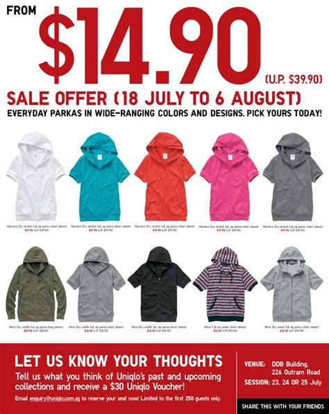 Uniqlo Gift Card Online - uniqlo parkas july august sale promotion great deals singapore