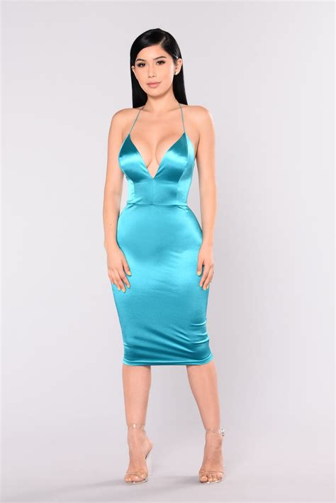 Dres Satin by Koko Satin Dress Jade