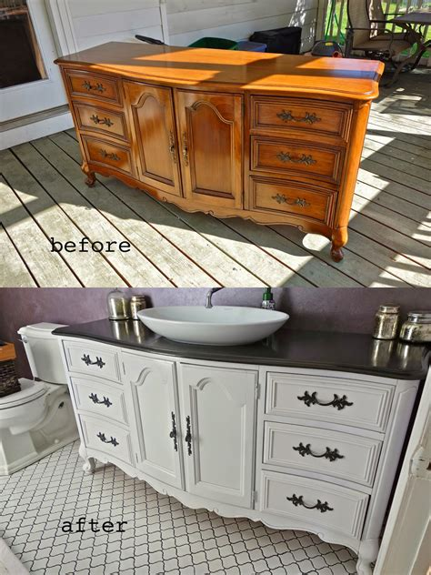 Dresser Into Bathroom Vanity Rustyfarmhouse Diy Repurposing A Buffet Or Dresser As A Bathroom Vanity Part 2