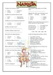 worksheets quot narnia the the witch and the
