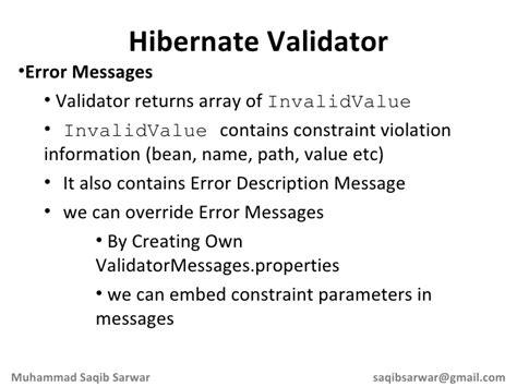 Hibernate Validation Pattern Regex Exle | my journey to use a validation framework