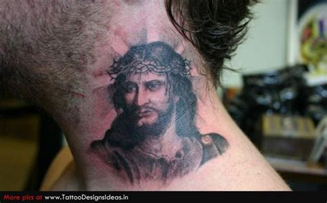 neck tattoo left or right jesus tattoo images designs