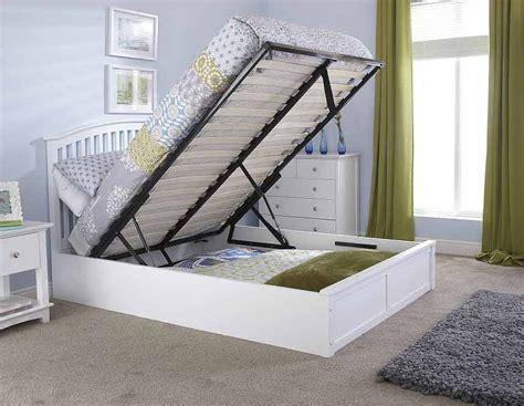 white ottoman storage bed madrillo white ottoman storage bed frame