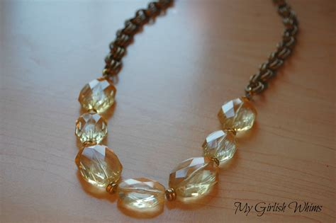 how to make chunky jewelry chunky yellow bead chain necklace my girlish whims
