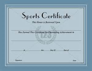 Free Sports Certificate Templates Sports Award Certificate Template Related Keywords