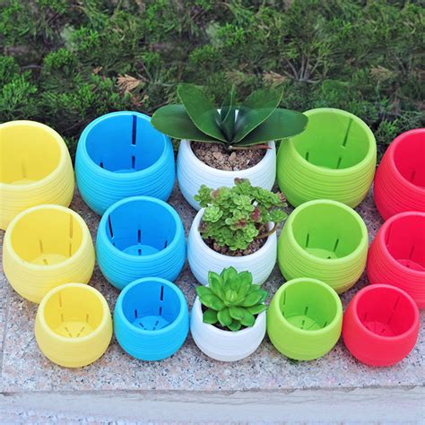 home decor pots 1pc multi round plastic plant flower pots container home