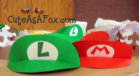 How To Make A Mario Hat Out Of Paper - mario and luigi poster board visors tutorial