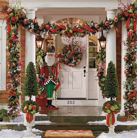 festive season entertaining d 233 cor inspiration by a 56 stunning christmas front door d 233 cor ideas family