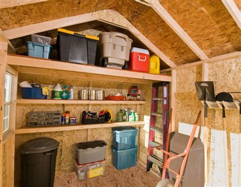 dos  donts  shed organization shed storage