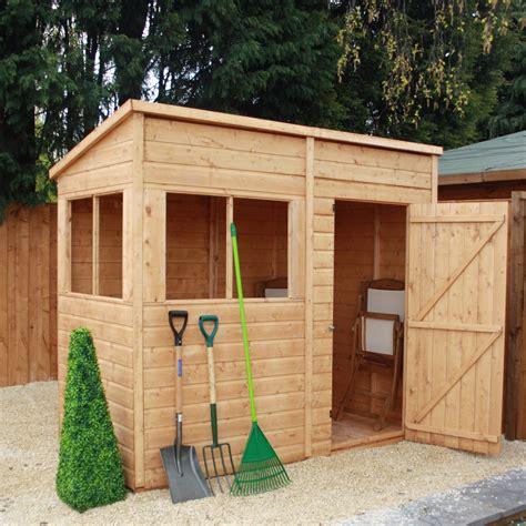 mercia garden products    wooden shiplap pent storage