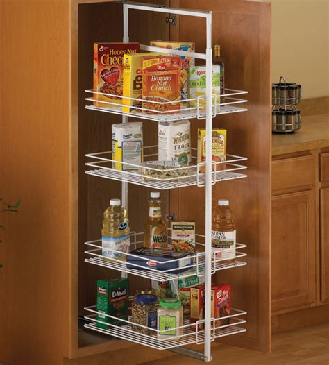 Pantry Roll Out by Center Mount Pantry Roll Out System White In Pull Out