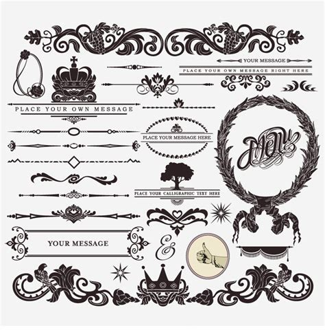 retro vintage design elements vector set retro vintage design elements vector set free vector