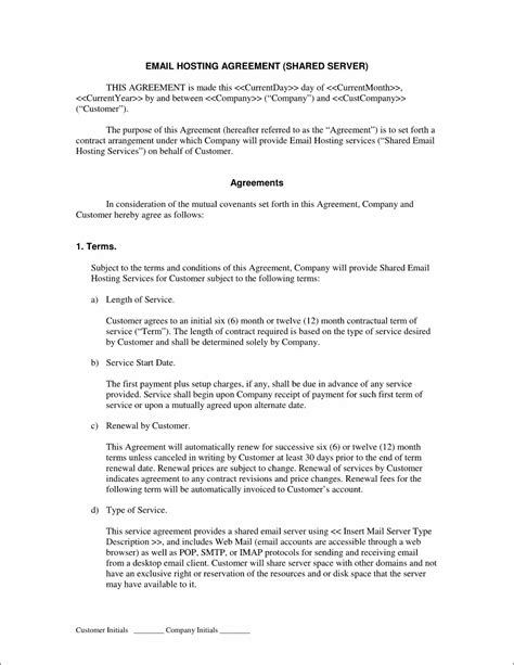Managed Services Contract Template Qualads Msp Contract Template