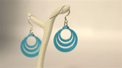 Encore Optic Peace boucles d oreilles optical illusion 2 small bleu