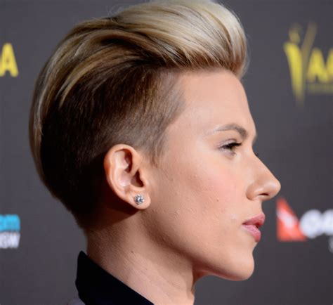 why scarlett johansson cut hair best celebrity undercut hairstyles