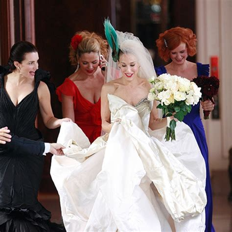 Which Of Carries Three Dresses Do You Like Best by What To Do If You Freak Out Like Carrie Bradshaw When You