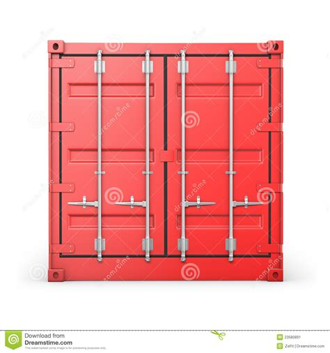 Plans For Tiny Houses single red container front view stock image image 23580891