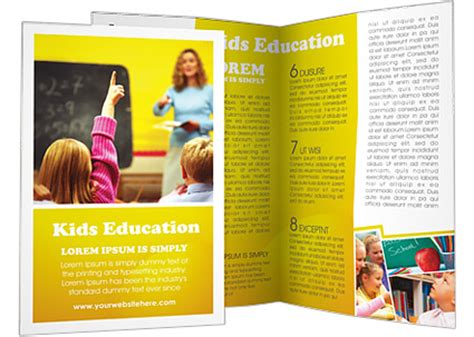 School Brochure Template Free by School Education Brochure Template Design Id 0000000533