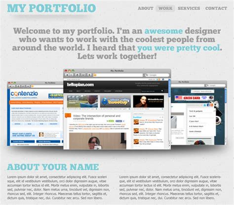 layout portfolio photoshop 25 photoshop portfolio web design tutorials creativefan