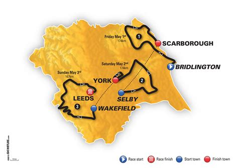 the 2017 tour de yorkshire see maps of the routes tyne tees itv tour de yorkshire 2017 route maps and race profiles for